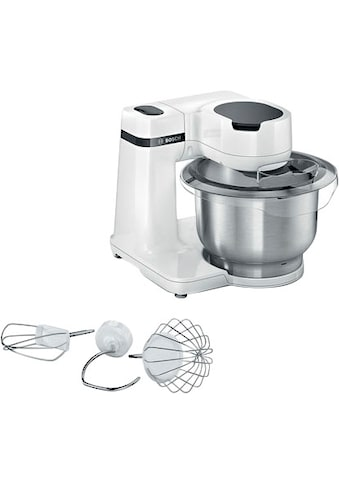 BOSCH Küchenmaschine »MUMS2EW00 MUM Serie 2«, vielseitig einsetzbar, Patisserieset Edelstahl, weiß kaufen