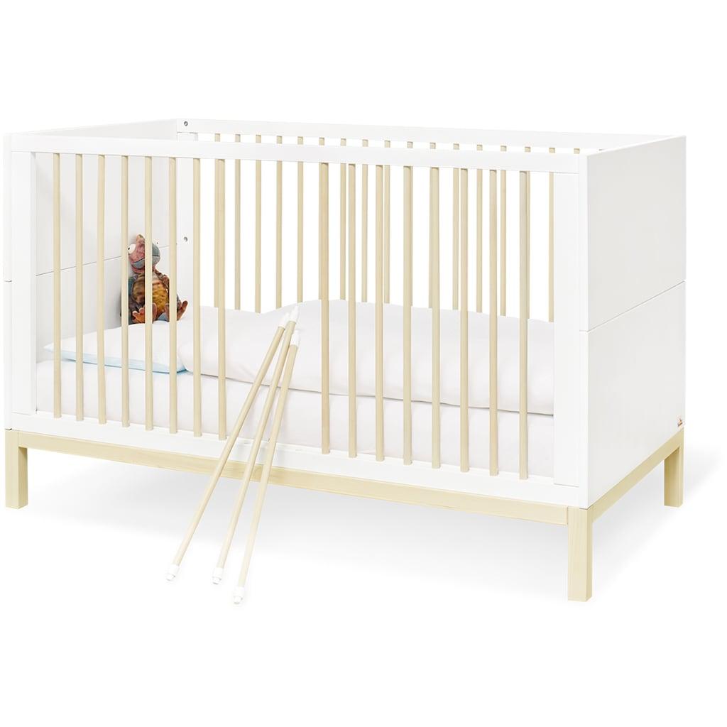Pinolino® Babyzimmer-Komplettset »Skadi«, (Set, 3 St.), breit, mit Kinderbett, Schrank und Wickelkommode