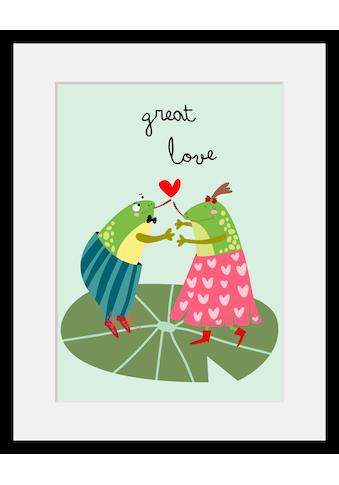 Home affaire Bild »Great love«, mit Rahmen kaufen