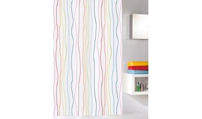 KLEINE WOLKE Duschvorhang »Jolie«, multicolor, 180 x 180 cm kaufen