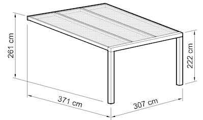Beckmann Terrassendach »Exklusiv 7«, BxT: 307x371 cm, mit Regenrinne kaufen