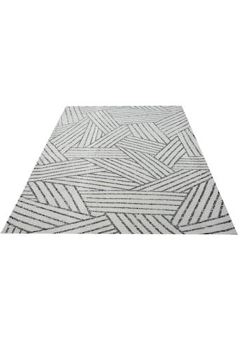 andas Teppich »Zanina«, rechteckig, 9 mm Höhe, modernes Design, Wohnzimmer kaufen