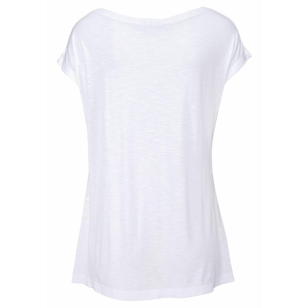 LASCANA Strandshirt, mit Print