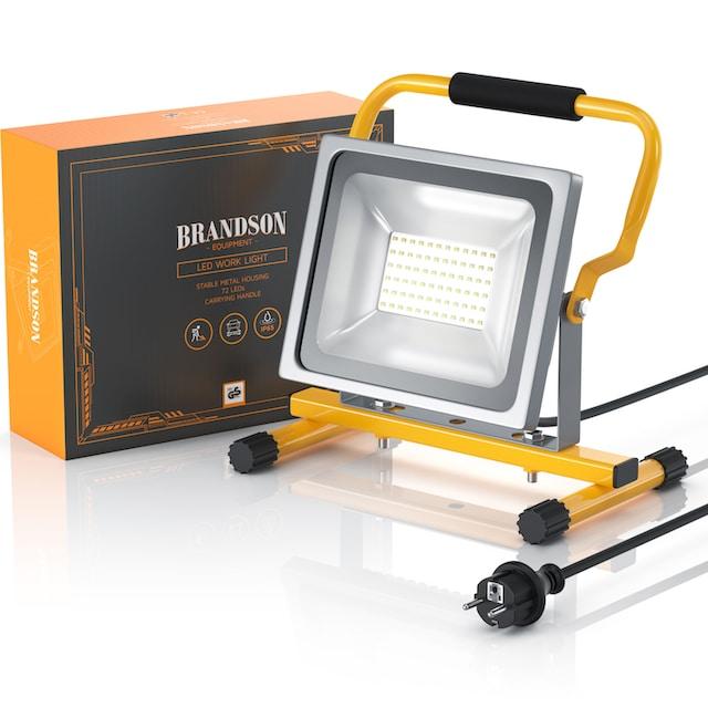 Brandson LED Baustrahler für Innen- und Außenbereich »30W / 2500 Lumen / IP65 (wasserfest)«
