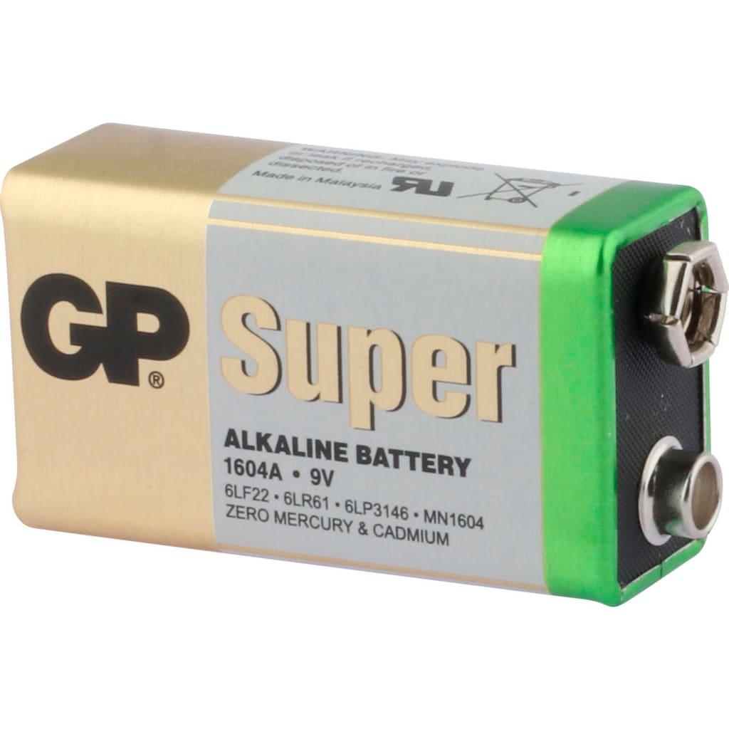 GP Batteries Batterie »Super Alkaline 9V«, 9 V, (1 St.)