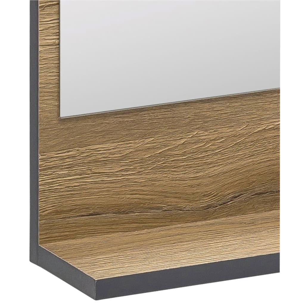WILMES Badspiegel »ADRIA«, Wandspiegel mit Ablage, Maße (BxHxT) ca.: 60 x 45 x 11 cm