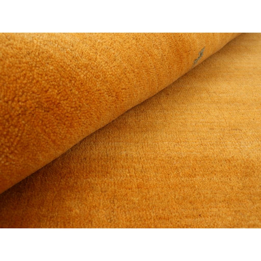 carpetfine Wollteppich »Gabbeh Uni«, rechteckig, 15 mm Höhe, reine Wolle, handgewebt, Gabbeh Tiermotiv, Wohnzimmer