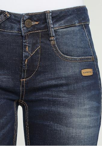 """GANG Skinny-fit-Jeans »""""NELE""""«, GANG Klassiker mit den gekreuzten Gürtelschlaufen... kaufen"""