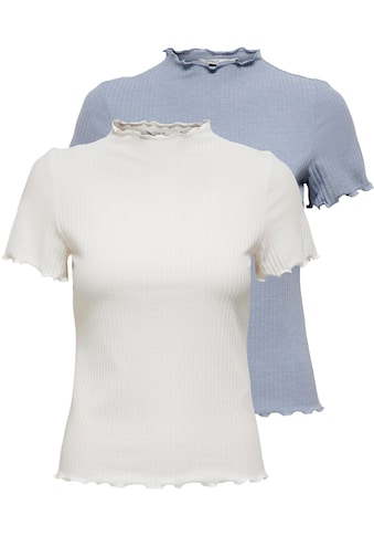 Only T-Shirt »ONLEMMA«, in Rippen Optik kaufen