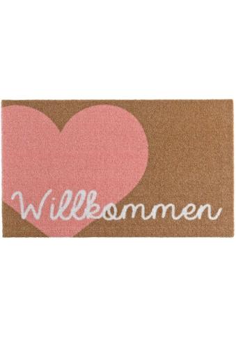 Zala Living Fußmatte »Willkommen Herz«, rechteckig, 7 mm Höhe, Schmutzfangmatte, mit... kaufen