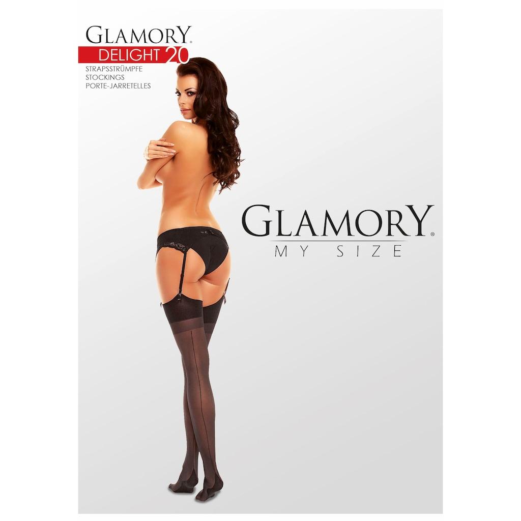 GLAMORY Strapsstrümpfe »Delight«, 20 DEN, (1 Paar), in seidig-matter Transparenz