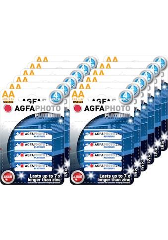 AgfaPhoto »Batterie Alkaline, Mignon, AA, LR06, 1.5V, Platinum, Karton (48 - Pack)« Batterie kaufen