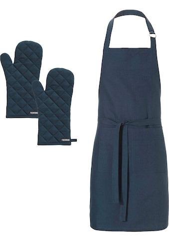 DDDDD Kochschürze »Kit«, (Set, 3 tlg.), mit Ofenhandschuhe kaufen