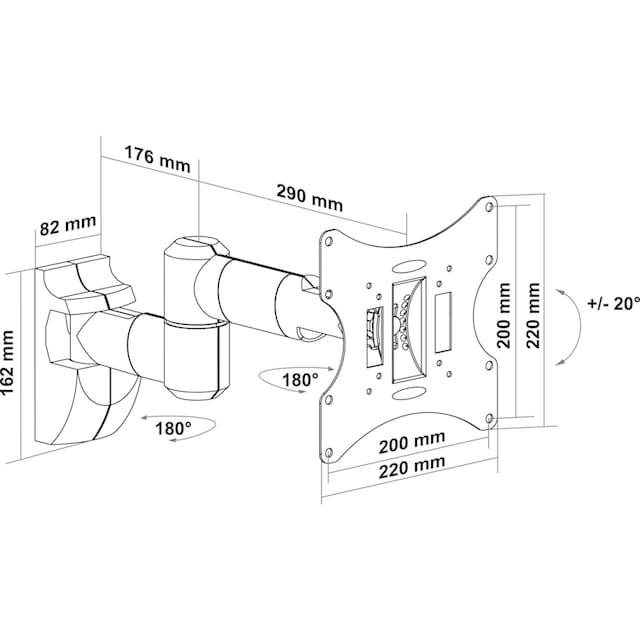 Schwaiger TV Wandhalterung neigbar und schwenkbar »für Displays mit 43-94cm (17-37 Zoll)«