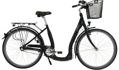 HAWK Bikes Cityrad »HAWK City Comfort Premium Plus Black«, 3 Gang, Shimano, Nexus Schaltwerk kaufen