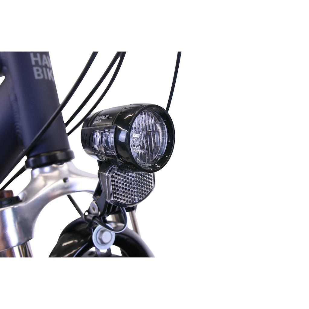 HAWK Bikes Trekkingrad »HAWK Trekking Gent Deluxe Plus Ocean Blue«, 27 Gang, Shimano, Alivio Schaltwerk