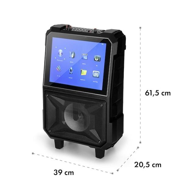 Auna Mobiler Karaoke Lautsprecher Karaokeanlage Display Mikro 40W »CenterStage 8«