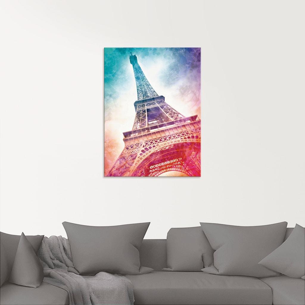 Artland Glasbild »Paris Eiffelturm II«, Gebäude, (1 St.)