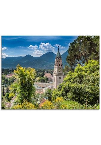 Artland Glasbild »Meran Idyllischer Blick über die Stadt«, Europa, (1 St.) kaufen