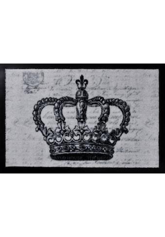 HANSE Home Fußmatte »Krone«, rechteckig, 9 mm Höhe, Schmutzfangmatte kaufen
