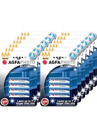 AgfaPhoto »Batterie Alkaline, Micro, AAA, LR03, 1.5V, Platinum, Karton (48 - Pack)« Batterie kaufen