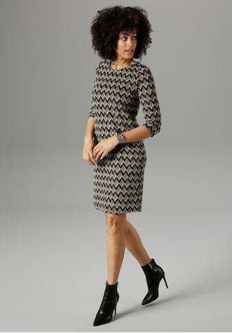 Aniston SELECTED Jerseykleid, mit grafischem Muster - NEUE KOLLEKTION kaufen