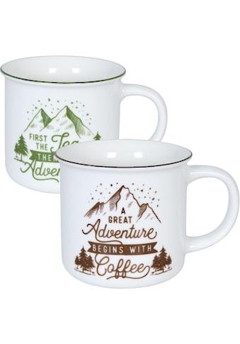 Könitz Becher »Camper tea & Coffee«, (Set, 2 tlg., 2 Becher mit unterschiedlichen... kaufen