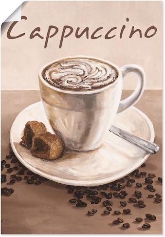 Artland Wandbild »Cappuccino - Kaffee«, Kaffee Bilder, (1 St.), in vielen Größen &... kaufen