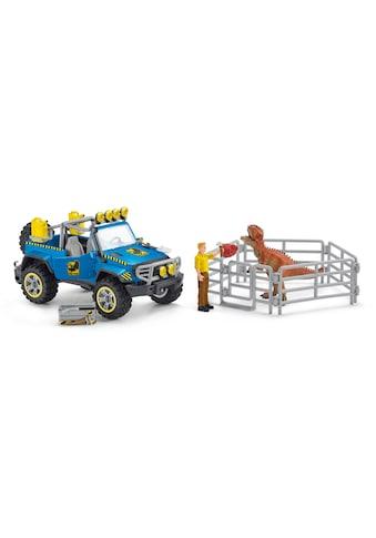 """Schleich® Spielzeug - Auto """"Dinosaurs, Geländewagen mit Dino - Außenposten (41464)"""" (Set) kaufen"""