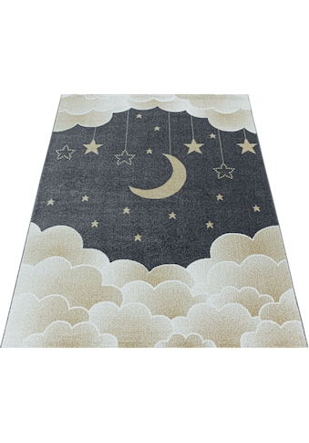 Ayyildiz Kinderteppich »FUNNY 2101«, rechteckig, 11 mm Höhe, Kinder Mond Sterne Motivteppich kaufen