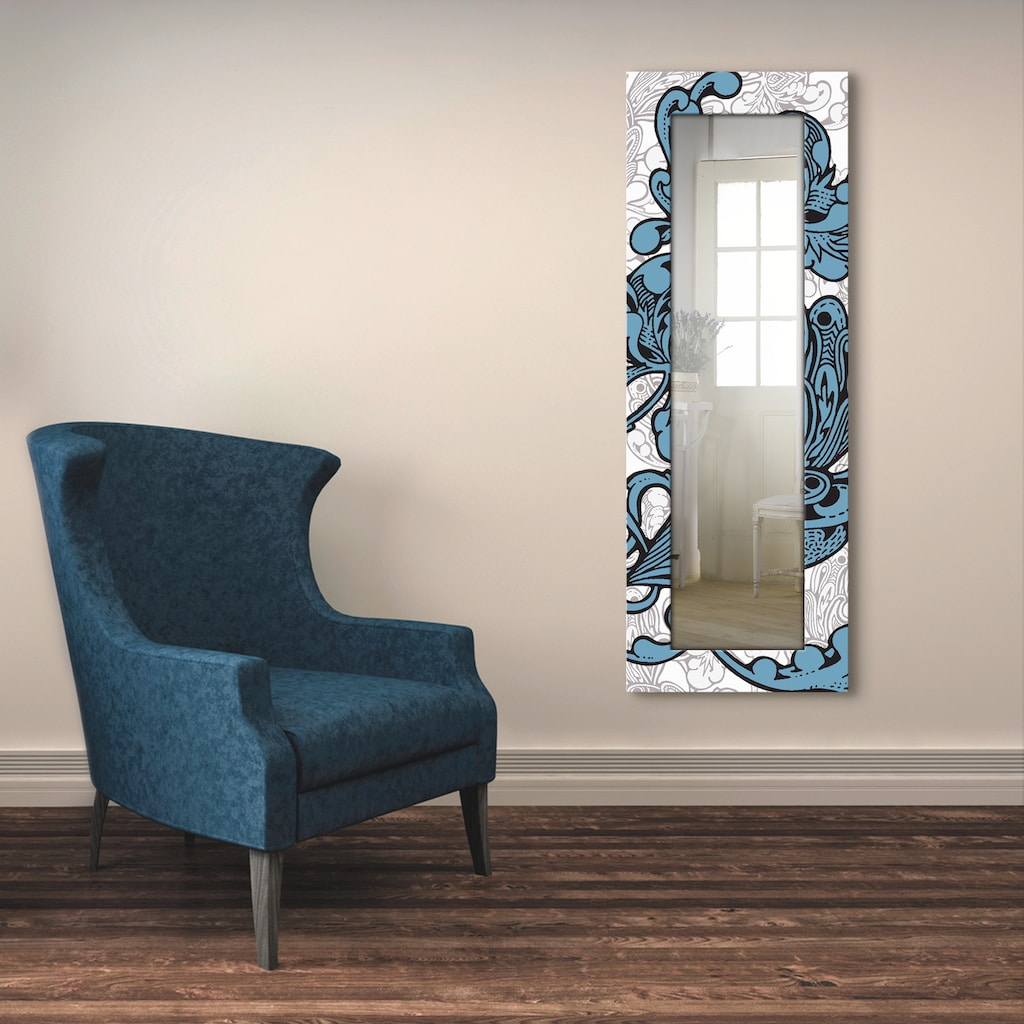 Artland Wandspiegel »Blue Ornaments«