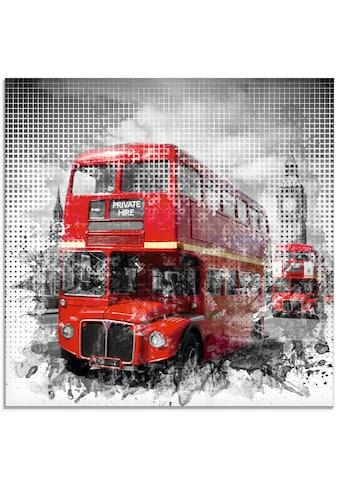 Artland Glasbild »London Westminster Rote Busse«, Auto, (1 St.) kaufen
