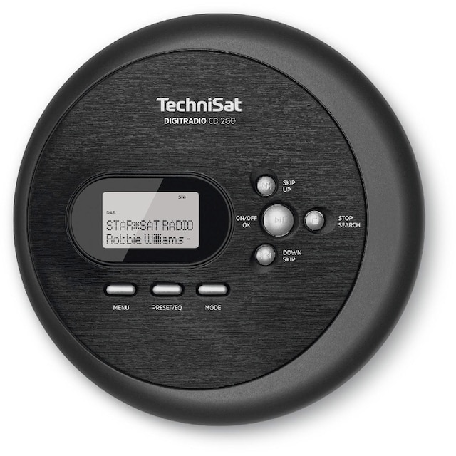 TechniSat Discman, CD-Player, DAB+, UKW, MP3 mit Resume-Funktion »DIGITRADIO CD 2GO«