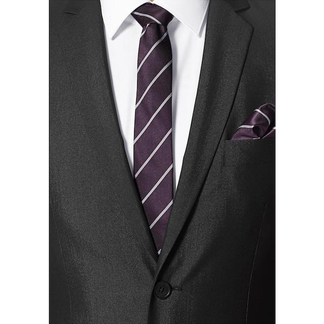 Bruno Banani Anzug (Set, 4 tlg., mit Krawatte und Einstecktuch)