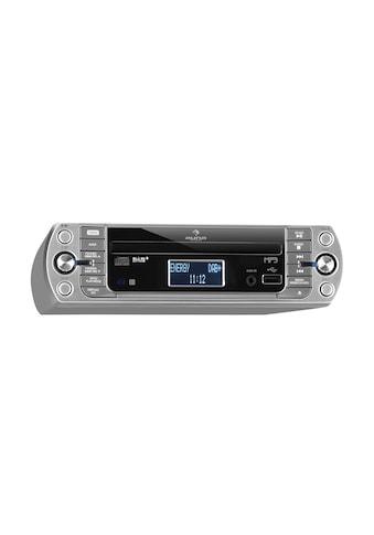 Auna Küchenradio, DAB+/PLL FM, CD/Mp3-Player silber kaufen