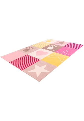 Obsession Kinderteppich »My Stars 411«, rechteckig, 10 mm Höhe, Kurzflor, kariert mit... kaufen