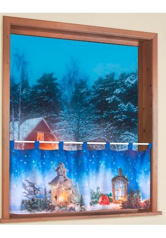 Scheibengardine, »Weihnachtszauber«, Weckbrodt, Schlaufen 1 Stück kaufen