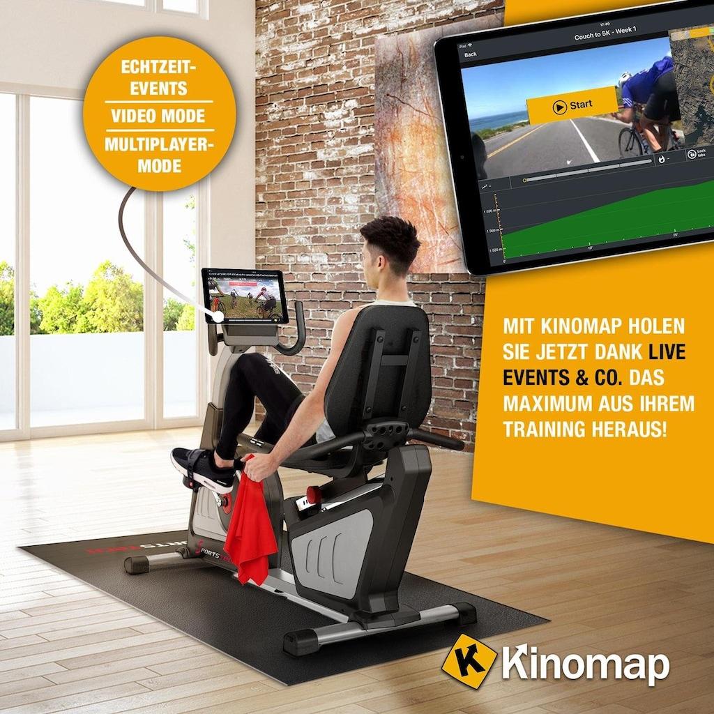 Sportstech Ergometer »ES600«, Liegeergometer Heimtrainer mit Rückenlehne