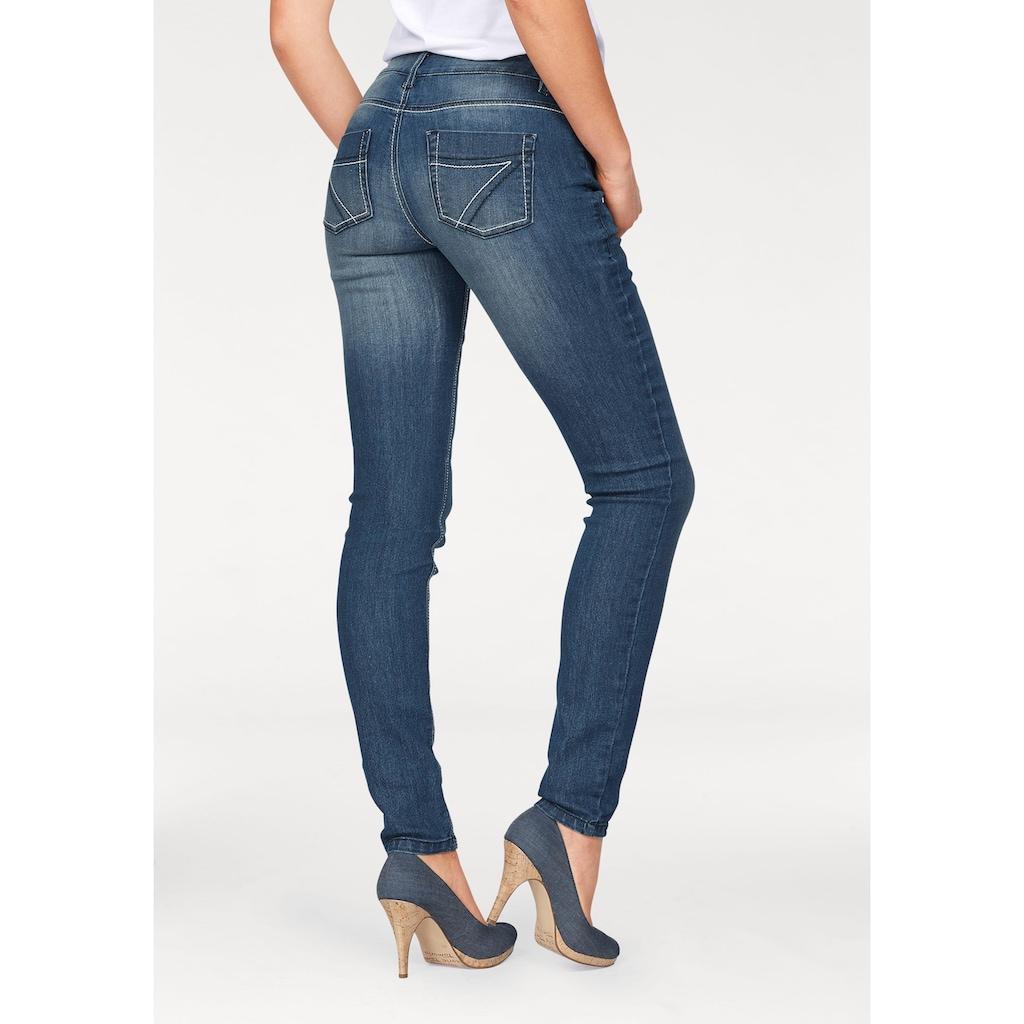 Arizona Slim-fit-Jeans »mit Kontrastnähten«, Mid Waist
