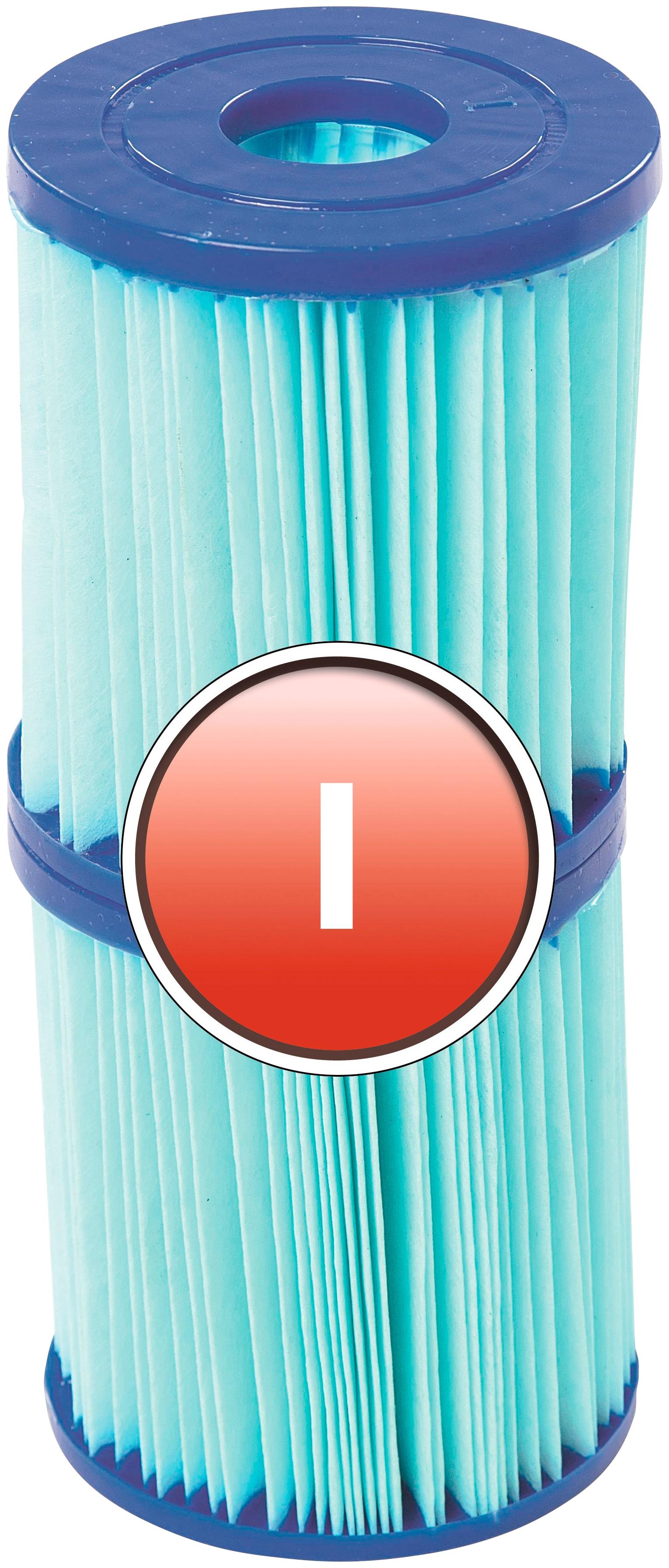 BESTWAY Ersatzfilterkartusche »Flowclear™«, Gr.I, 8 x 9 cm | Küche und Esszimmer > Küchengeräte > Wasserfilter | Blau | BESTWAY