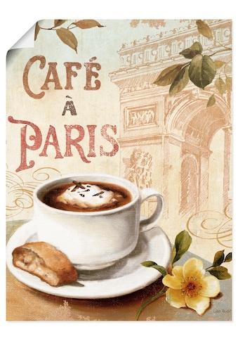 Artland Wandbild »Kaffee in Europa I«, Getränke, (1 St.), in vielen Größen &... kaufen