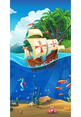 good morning Strandtuch »Captain«, (1 St.), mit Piratenschiff kaufen