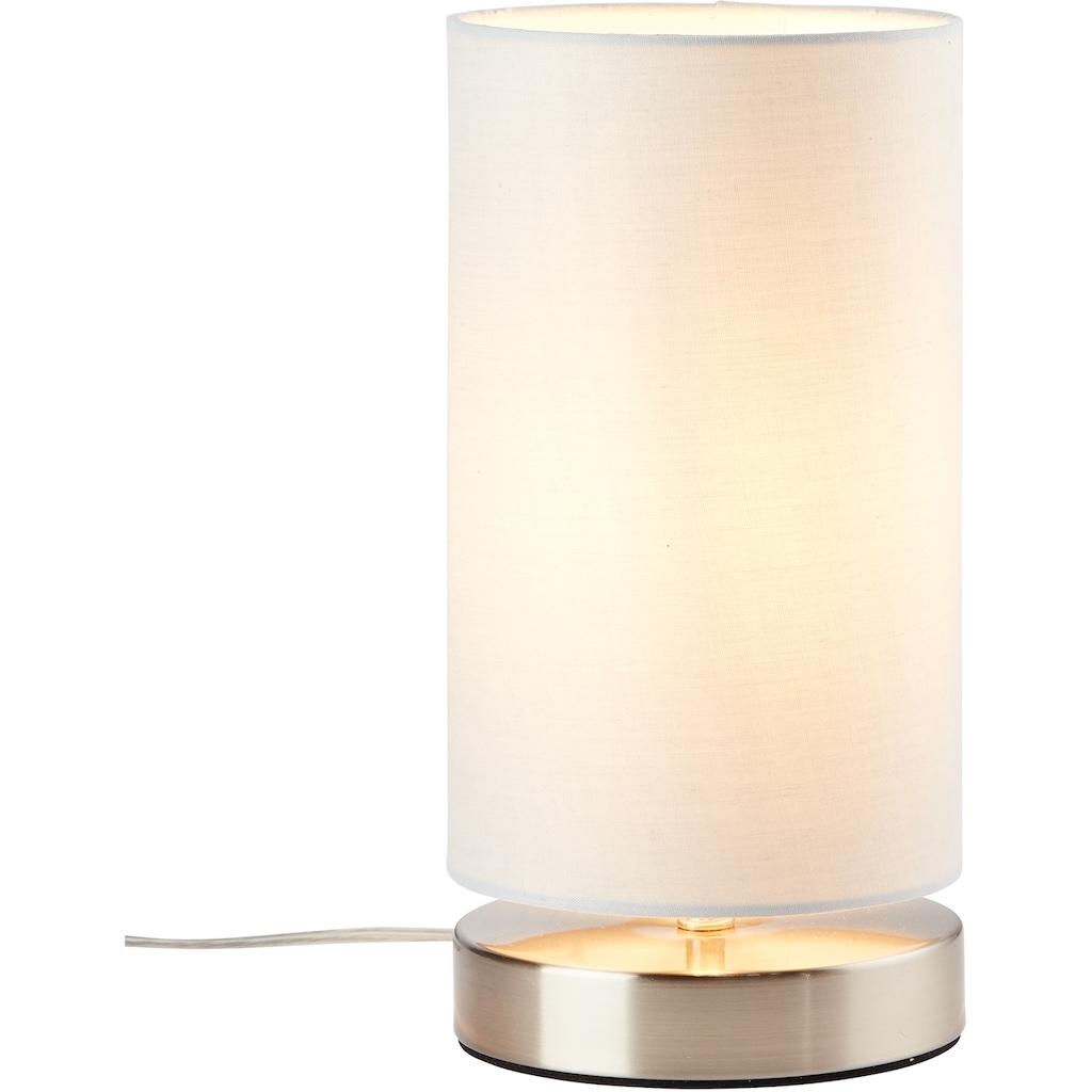 Lüttenhütt Tischleuchte »Lüchte«, E14, Tischlampe mit Stoffschirm Ø 12 cm, hellgrau, Touch Dimmer