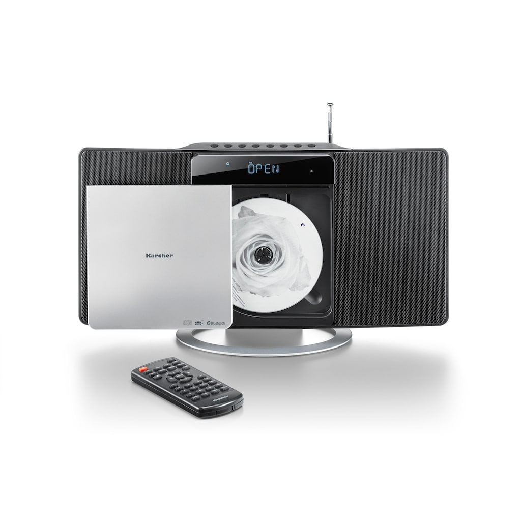 Karcher Kompaktanlage »MC 6580D«, (Bluetooth-CD Digitalradio (DAB+)-FM-Tuner)