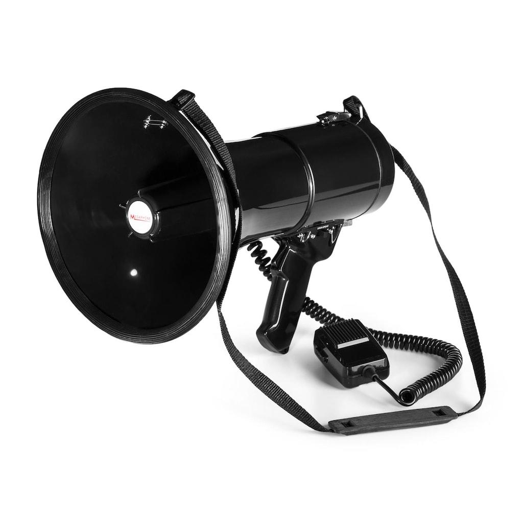 Auna MEGA080 Megaphon 80W | Reichweite 700m | wasserfest | Trage