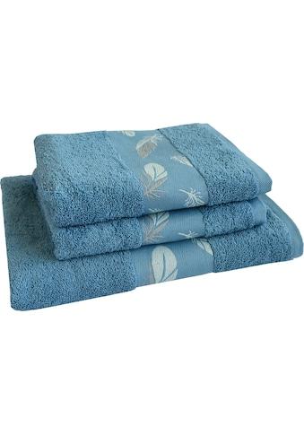 Dyckhoff Handtuch Set »Feder«, mit schöner Bordüre und Feder Motiven kaufen