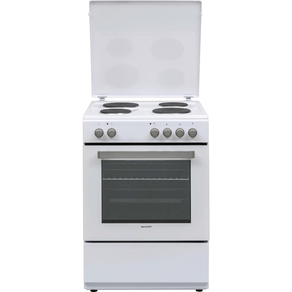 Sharp Elektro-Standherd »KF-76HNO22W-DE«, KF-76HNO22W-DE