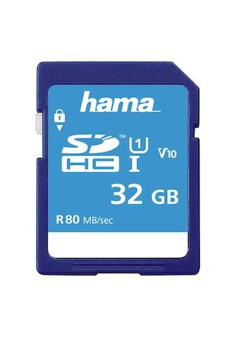 Hama SDHC Speicherkarte 32 GB, Class 10 UHS-I 80MB/s kaufen