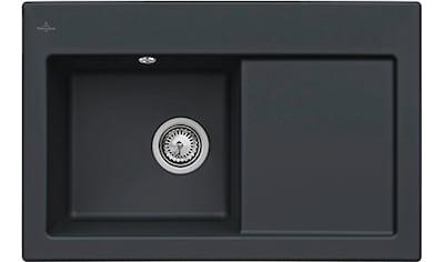 VILLEROY & BOCH Küchenspüle »Subway 45«, inkl. Ablaufgarnitur mit Handbetätigung, 780 x 510 mm kaufen