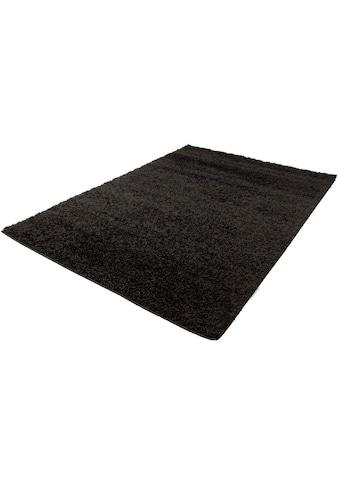 Carpet City Hochflor-Teppich »Shaggi uni 500«, rechteckig, 30 mm Höhe, Wohnzimmer kaufen